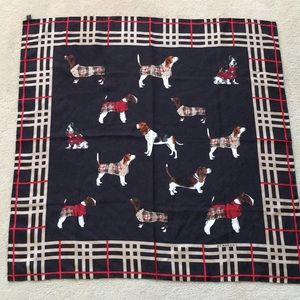 Burberry silk scarf for dog lovers